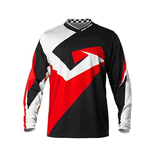 Uglyfrog Herren Besonderes Cooles Design Downhill Jersey/Jacken, MTB Männer T-Shirt,Mountainbike/Motocross Schnell-Trocknend Kurzarm/Lange Ärmel-Trikot, Enduro/Offroad/Quad Cross Kleidung