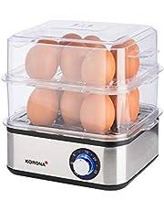 Korona 25303 Roestvrij Staal Mini Stomer en eierkoker | Kleine Stomer voor Groenten | Professionele Koker voor tot 16 Eieren