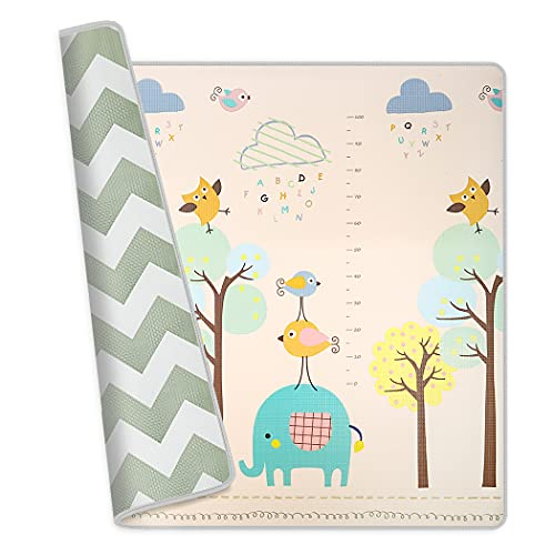Baby Play Mat Dripex Crawling Mat Non-Toxic Baby Rug-Cushioned Reversible Anti-Slip Portable Rolling Floor Yoga Mat Waterproof Soft Foam Mat for Infants Toddlers Kid Indoor Outdoor Use (79x71x0.6 in)