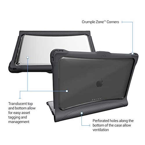 Brenthaven Edge Case Designed for Apple MacBook Air 13 Inch 2019 with Retina True Tone Display for Sc   hool, Business and Office Use – Gray, Durable, Rugged Protection from Impact and Compression
