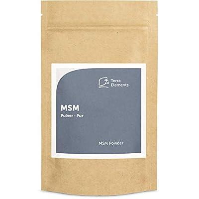 Terra Elements MSM Pulver 100 g I Organischer Schwefel I Für Haut, Haare, Nägel I Vegan