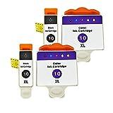 RICR Reemplazo De Cartucho De Tinta Remanufacturado para Kodak KD10, Compatible para Kodak EasyShare Serie 5100 5200 3250 5250 5300 5500 ESP 3 5 7 9 ESP BÜRO 6150 7250 Im 2set
