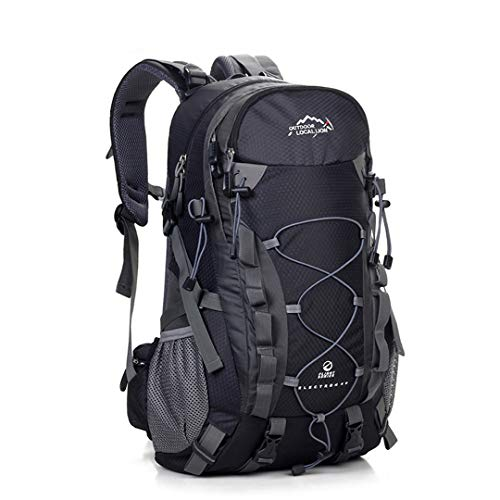 Outdoor Waterproof Hiking Backpack 40L Ventilated Trekking Climbing Bag Rucksack Black 30-40L