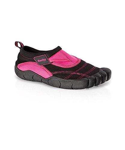 Fashy 7491 Kinder Aqua-Schuh Lagos m. Klettveschluss, Farbe pink, schwarz, Größe 33