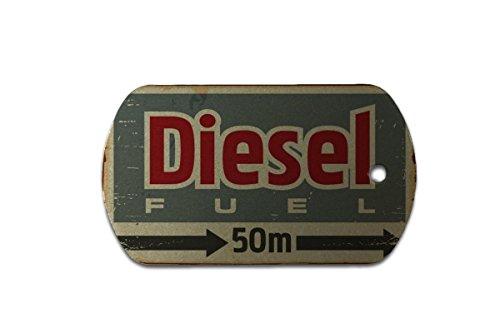 LEotiE SINCE 2004 Hundemarke Erkennungsmarke Garage Diesel Bedruckt Tankstelle