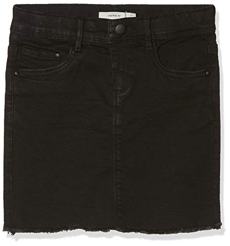 NAME IT NAME IT Mädchen Rock NKFBILURA DNM 7083 Skirt NOOS, Schwarz (Black Denim), (Herstellergröße: 122)