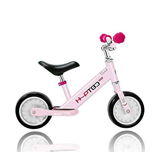 WYX Kids Balance Bikes 7 Zoll, Light No Pedal Walking Bike mit Aluminium-Legierung Rahmen, Adjustable Lenker und Seat, für Altersstufen 18 Monate bis 3 Jahre, Pink