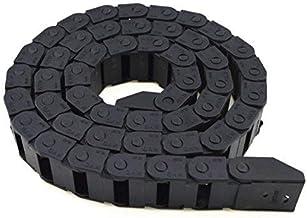 DealMux 10mm x 20mm Zwarte Plastic Flexibele Genestelde Semi Gesloten Drag Chain Kabel Draad Drarier 1M voor Elektrische M...