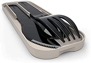 MB Pocket Color black - The biodegradable-plastic cutlery set by monbento