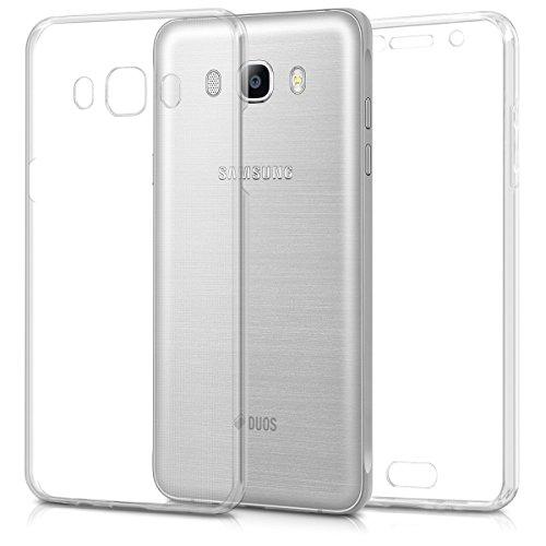 kwmobile Hülle kompatibel mit Samsung Galaxy J5 (2016) DUOS - Silikon Komplettschutz Handy Cover Case Schutzhülle Transparent