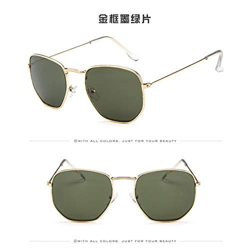LETAM Sonnenbrille Vintage Hexagonal Sonnenbrille Frauen Männer Marke Designe Retro Fahrspiegel Sonnenbrille Weiblich Männlich