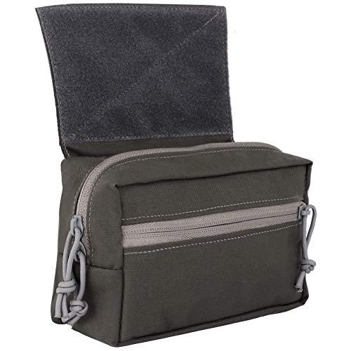 NICEWL Hommes Tactique Gilet Coffre-Barres Barm Drop Pouch Sub,Outil Add-on Pouch Pack Sac de Transport Abdominal Kit,Extérieur Tir CS Jeux Accessoires,Gris