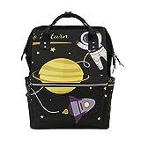 Space Saturn Planet Wickeltasche Rucksack für Mutter groß Unisex Wickeltaschen Baby...
