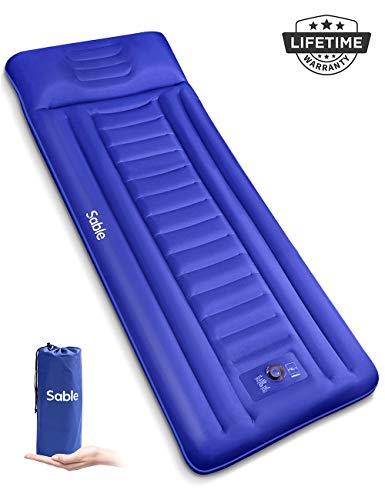 Sable Camping Sleeping Pad/Mat, Most Comfortable Camp Sleep Air Mattress with Built-in Pillow &...
