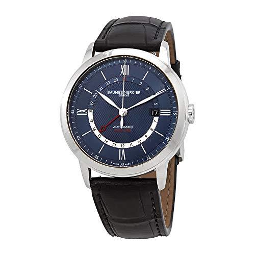 Baume et Mercier Classima Reloj automático de hombre con esfera azul 10482