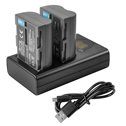 Joiry Battery and Charger for Nikon EN-EL3 EN-EL3e Compatible with Nikon D50, D70, D70s, D80, D90, D100, D200, D300, D300S, D700 D900 Digital Cameras