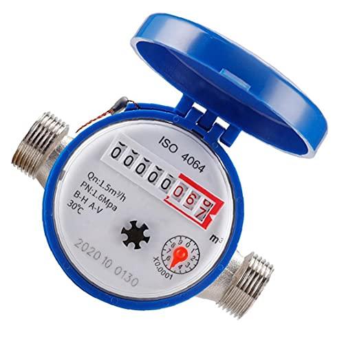 TongICheng Kaltwasser-durchflussmesser-praktische Wasserzähler-mit Fittings 15mm 1/2 Zoll Umdrehungszähler Für Die Nutzung Zu Hause Garten-Accessoires