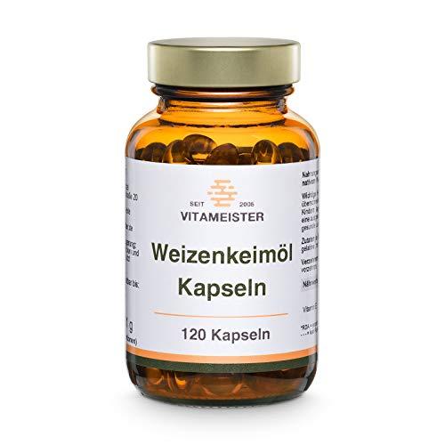 vitameister Weizenkeimöl Kapseln, 120 Stück im Braunglas
