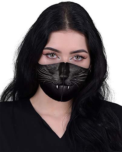 Spiral - Cat Fangs - Fashion Face Masks - L Black