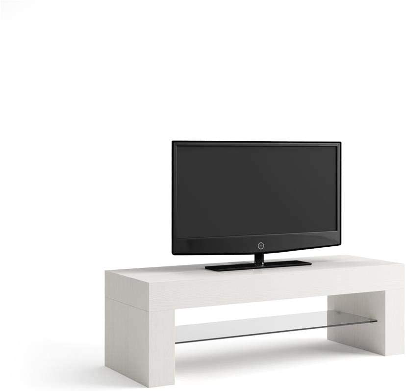 Mobili Fiver, TV Cabinet, Evolution, White Ash, Laminate-Finished/Glass, Made in Italy