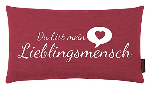 Magma Kissen Lieblingsmensch ca. 30x50cm Made in Germany