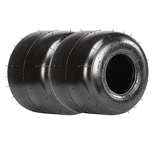 SunF 11x7.10-5 11x7.10x5 Neumáticos Go Kart, K001, Neumáticos para césped de carro de golf con cortadora de césped, 4 capas sin cámara, DOT, juego de 2