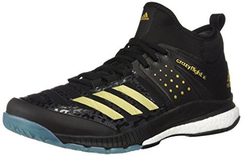 adidas Herren Mid Crazyflight X Mittelhoch, Core Black, Gold Met, Icey Blue F17, 40 EU