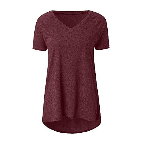 N\P Camiseta larga de manga corta de color de la camiseta larga de las mujeres