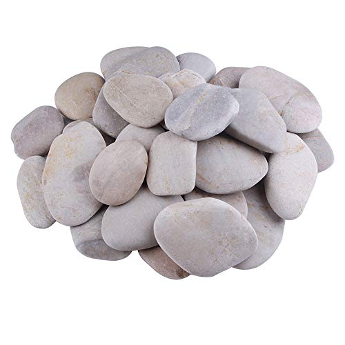 """Outy Large Craft Rocks for Paintting & Ink Stamping, 8pc Set of 3-4"""" Smooth Kindness Rocks"""