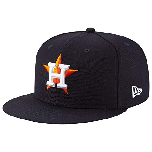 New Era Mens MLB Cooperstown Wool 59Fifty Fitted Hat Astros 11941908 (7 3/8) Navy Blue
