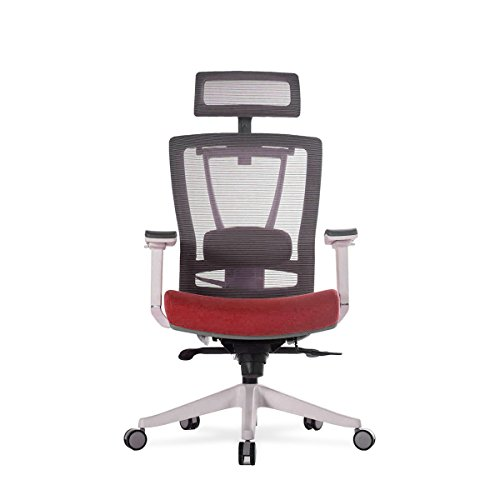 ActiveChair Ergonomic Office and Gaming Chair, 7-Way Adjustable -Red