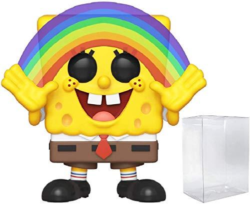 Funko Animation: Spongebob Squarepants - Spongebob Rainbow Pop! Vinyl Figure (Includes Compatible Pop Box Protector Case)