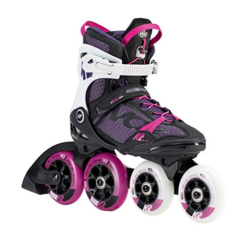 K2 Skates Herren VO2 S 100 X PRO W (Hi Lo) Inline Skates, black-purple-white, 42.5 EU (8.5 UK)