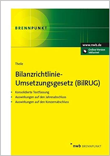 Bilanzrichtlinie-Umsetzungsgesetz (BilRUG): Konsolidierte Textfassung. Auswirkungen auf den Jahresabschluss. Auswirkungen auf den Konzernabschluss (NWB Brennpunkt)