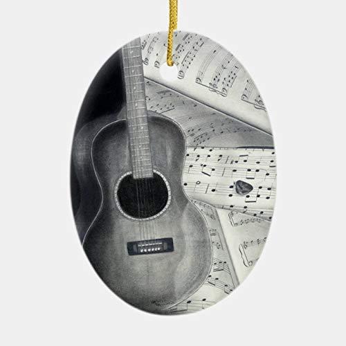happygoluck1y Adorno de guitarra y partitura, adornos...