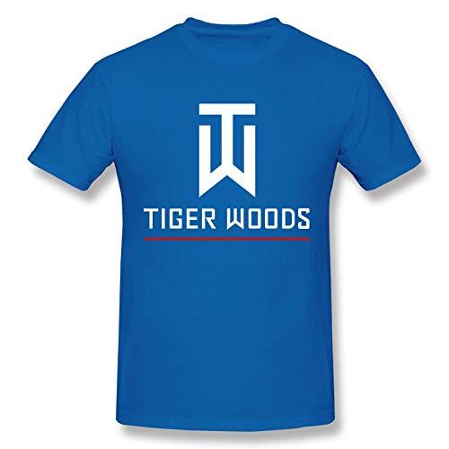 Tiger Woods Camiseta gr¨¢fica de Manga Corta de Algod¨®n a la Moda para Hombres y j¨®Venes, Talla Extra Grande