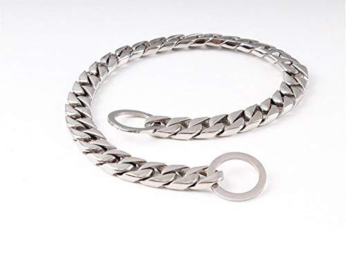 Collar de Cuello de Perro de Acero Inoxidable Liso Cadena de Metal Clientes Cuello para Mascotas para Perros Bully Dober Bulldog Pitbull Collares-Collar de 15 mm_6XL 80cm