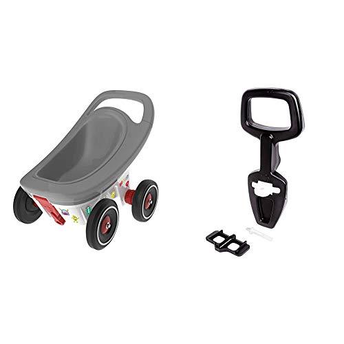 Big - Buggy - 3-in-1 Multifunktions-Anhänger, Lauflernwagen mit Verstellbarer Bremsfunktion & Bobby Car Walker - 2-in-1 Lauflernhilfe und Rückenlehne in Einem, mit integriertem Kippschutz
