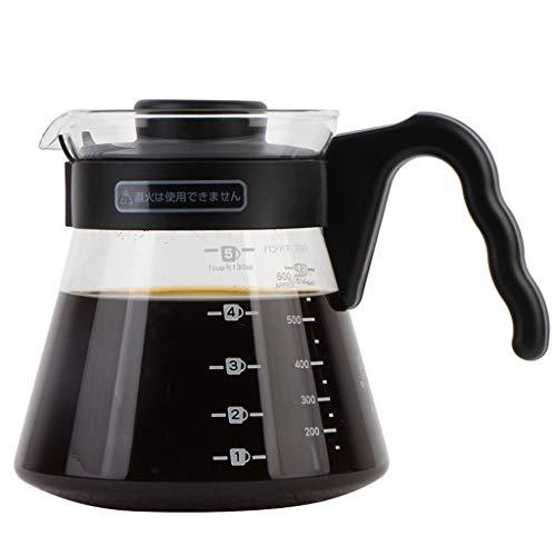 YQQ-Cafetière Coffee Pot Decanter/Carafe régulier - Nouvelle Forme de Verre Design - Poignée Ergonomique - Capacity450ML700ML