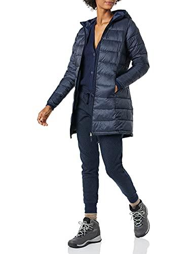 Amazon Essentials Lightweight Water-Resistant Packable Puffer Coat Abrigo de Piel, Azul Marino/Negro, Guepardo, M