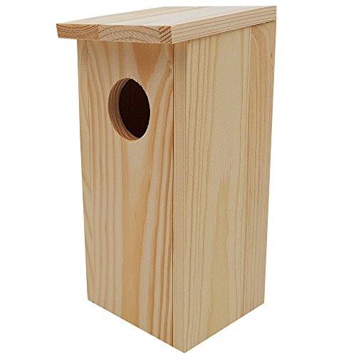 DILUMA Nistkasten Compact 22 x 9 x 10 cm aus FSC Holz Nisthaus perfekt für Meisen Kohlmeisen Kleiber Rotschwänzchen und weitere Vogelarten Vogelnistkasten