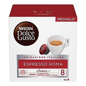 Nescafé Dolce Gusto Espresso Roma Caffè, 6 Confezioni da 16 Capsule (96 Capsule), intensità 8 su 13