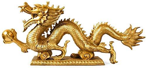 LLDKA Drache Statue Home Feng Shui Handwerk, Glückliche Dekorationen, Studie Desktop Sammlung, Home Skulptur (34 X 6,3 X 17,5 cm)