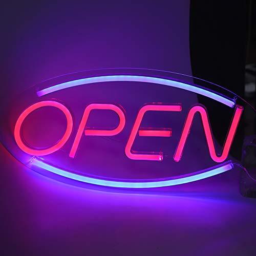 LED Neonlicht, Open Letters Shaped Neon Signs Decorative Lights, Hängende USB Powered Signboard Lights, verwendet für Wohnzimmer, Schlafzimmer, Hotel, Bar, Restaurant, Partydekoration