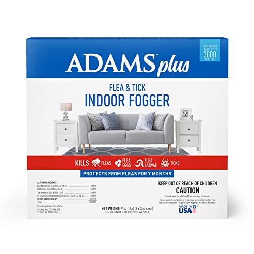 Adams Plus Flea and Tick Indoor Fogger (3 Pack), 3 oz
