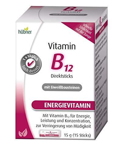 hübner - Vitamin B12 Direktsticks - Pulver - 15 Stück -