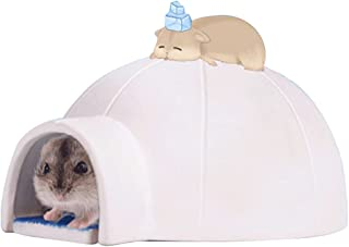 Licogel Indoor Funny Lovely Lightweight Washable Hamster Cooling House Ceramic Lovely Funny Easy Cleaning Cute Small Anima...