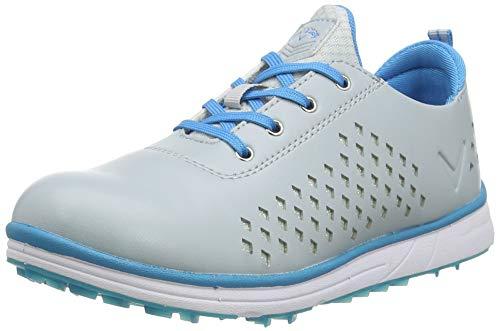 Callaway Halo Diamond 2020 Zapato de golf impermeable sin clavos Mujer, Gris/Azul, 36.5 EU