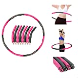 Vlio Hoola Hoop Folding Fitness Weighted Hula Hoops 1kg 8 Sections Adjustable for Exercise, Foam Paded Gym...