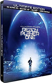 【限定スチールブック仕様】レディ・プレイヤー1 [4K UHD + 3D Blu-ray + Blu-ray リージョンフリー 日本語有り](輸入版) -Ready Player One- ※商品説明欄を必ずお読みください